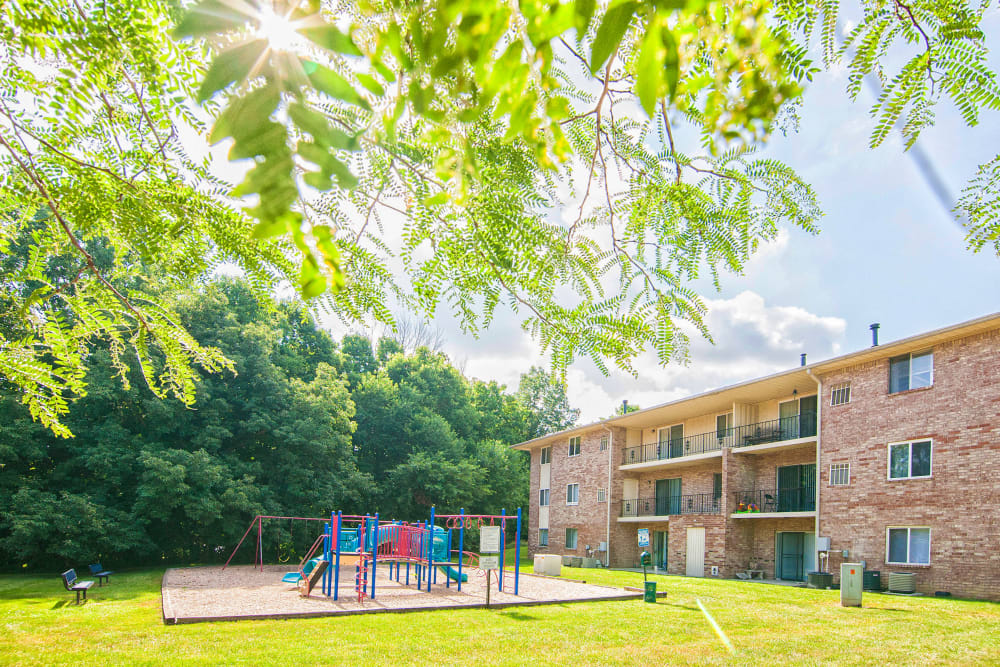 Resident playground at Beech Meadow in Beech Grove, Indiana.