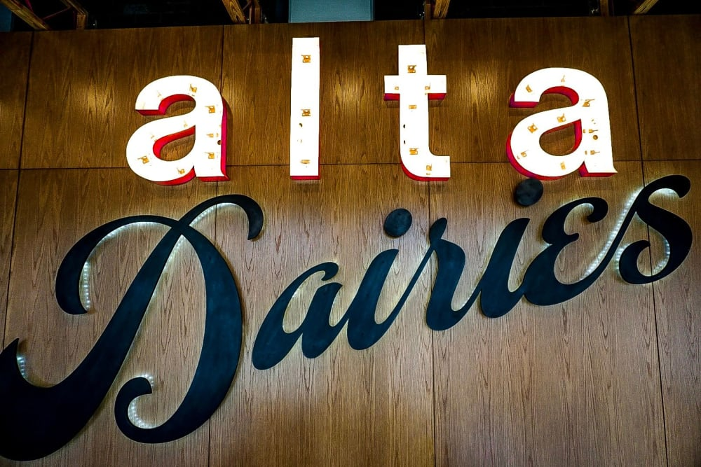 apartment sign at Alta Dairies in Atlanta, Georgia
