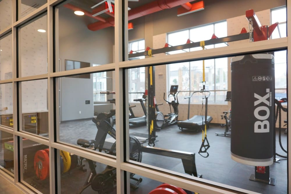 exercise room at Alta Dairies in Atlanta, Georgia