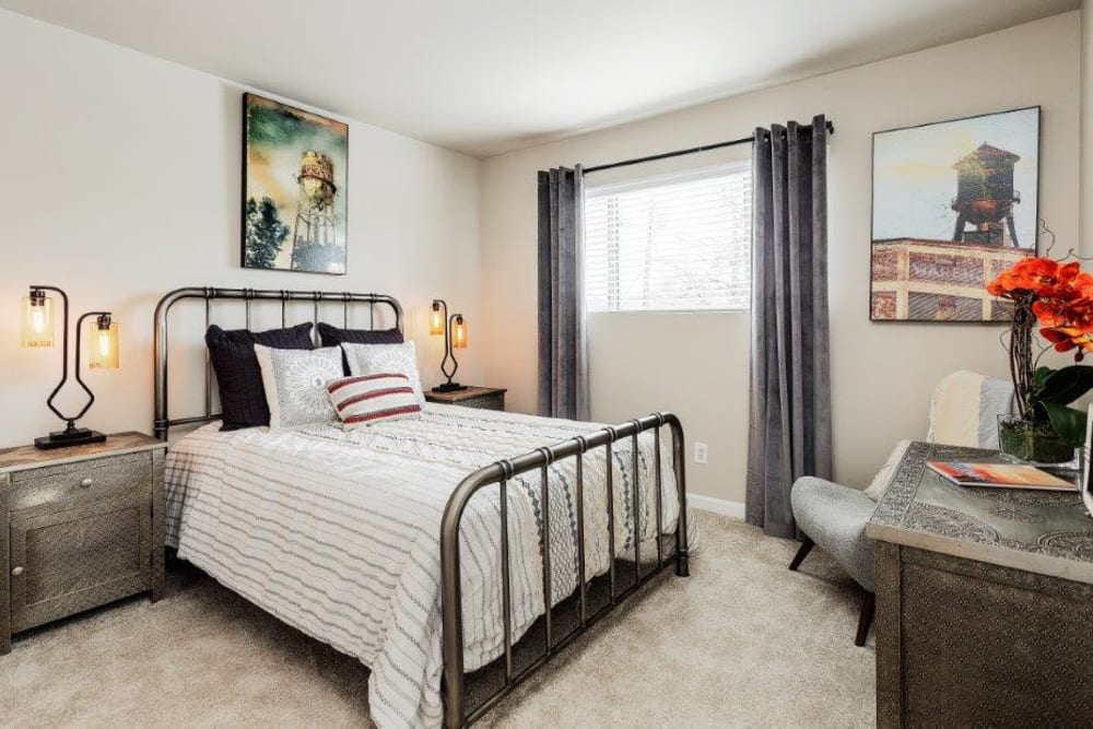 Beautiful Bedroom at Lincoya Bay Apartments & Townhomes in Nashville, Tennessee