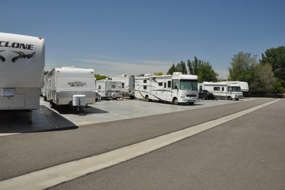 RV Storage at Lock It Up Self Storage in North Ogden, Utah