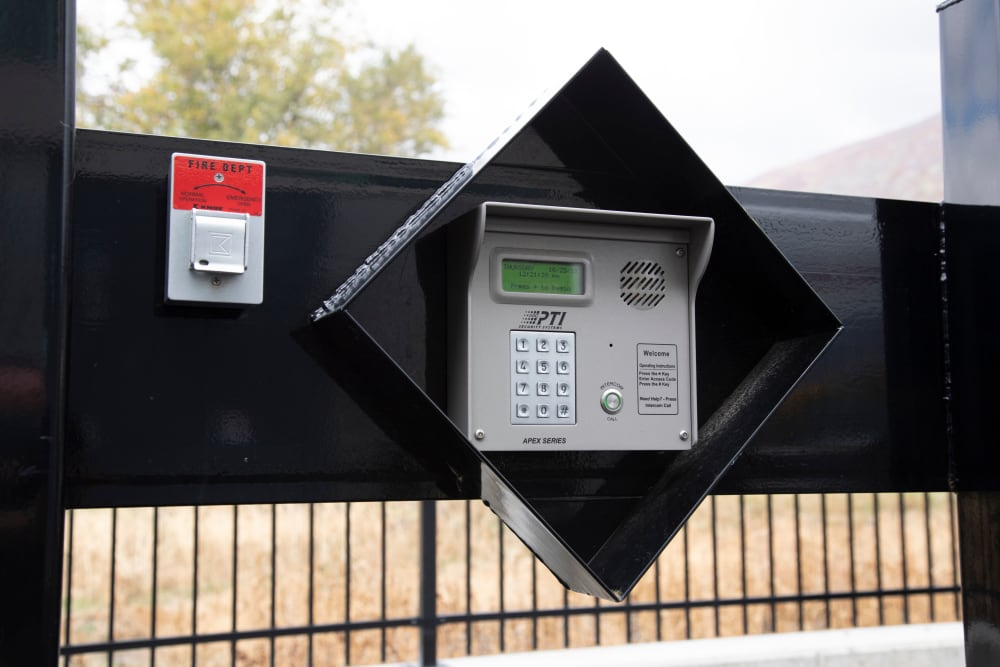 Security features at Lock It Up Self Storage in North Ogden, Utah