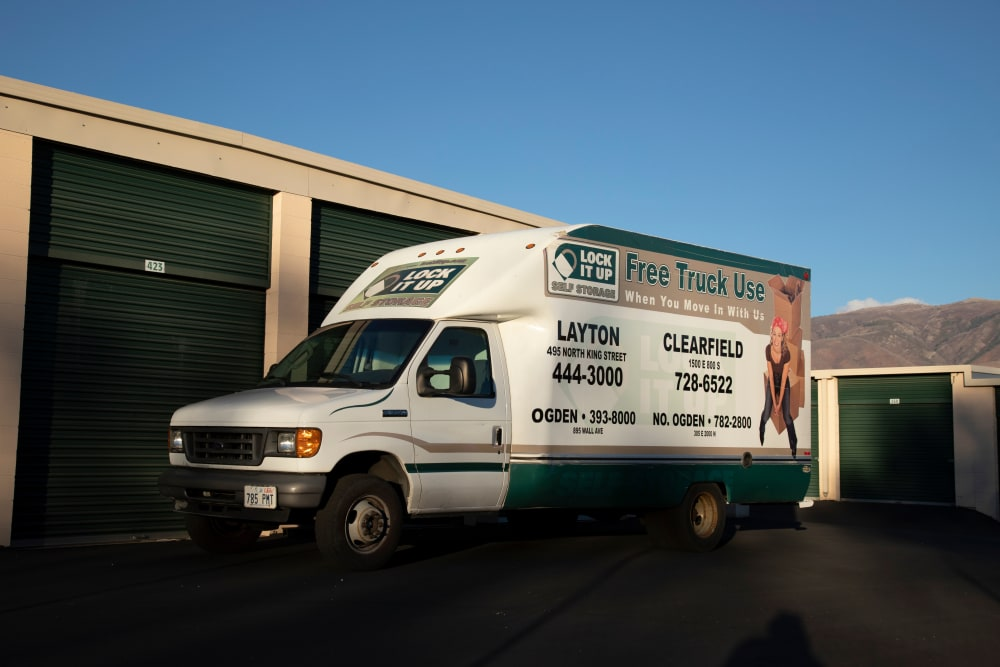 Moving Truck from Lock It Up Self Storage in Clearfield, Utah