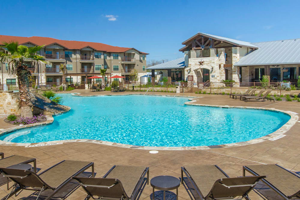 Swimming pool at Legacy Brooks in San Antonio, Texas