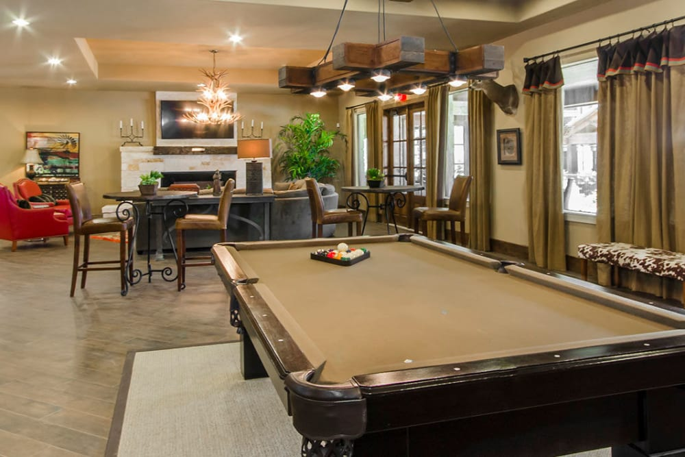 Billiards at Legacy Brooks in San Antonio, Texas