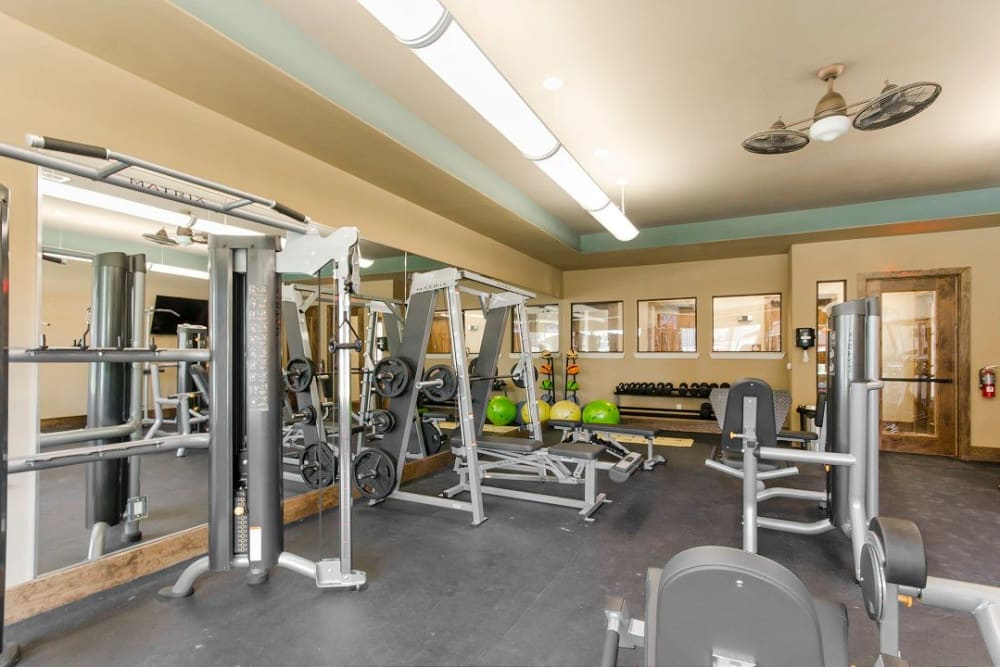 Fitness area at Legacy Brooks in San Antonio, Texas