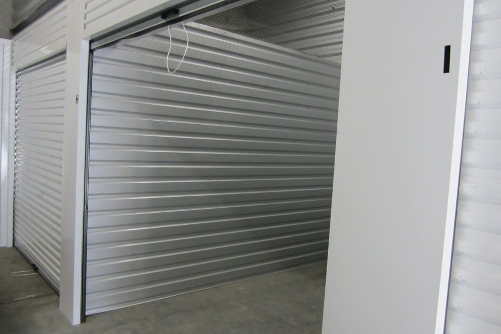 Open unit at Daytona RV & Boat Storage in Perris, California