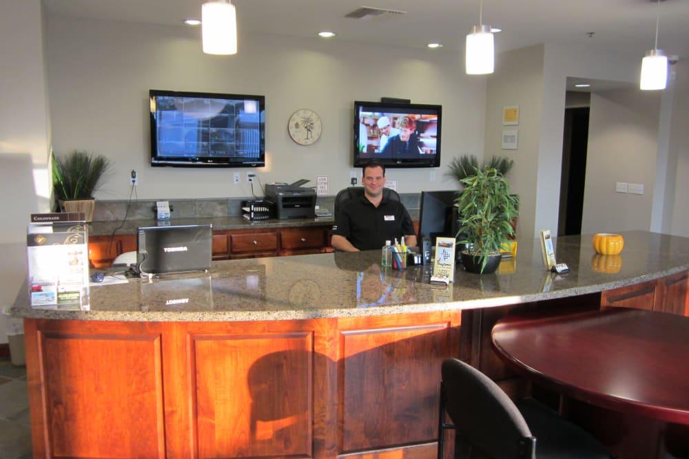 Office at Daytona RV & Boat Storage in Perris, California