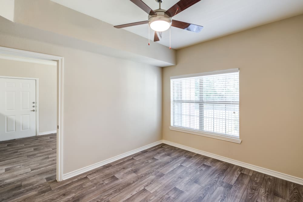 model bedroom at The Landing at Mansfield in Mansfield, Texas