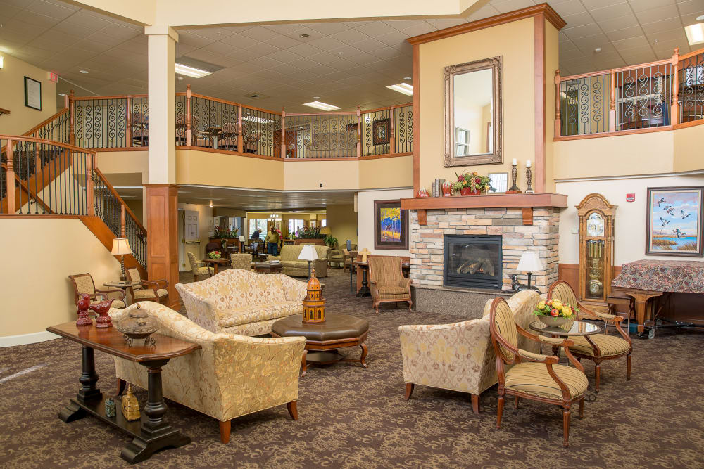 Lobby area at Touchmark on Saddle Drive in Helena, Montana