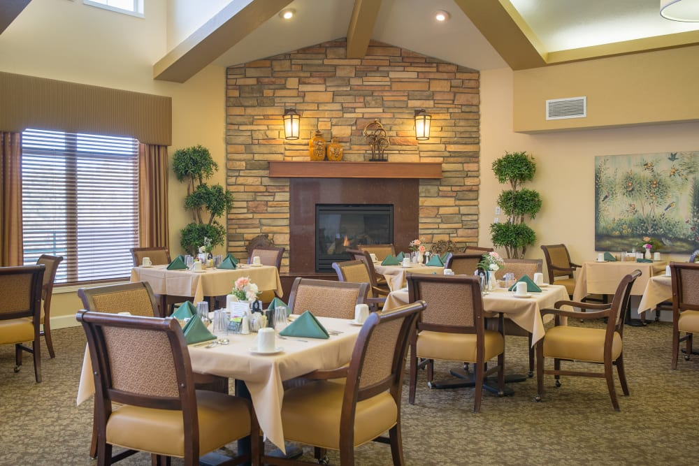 Dining room at Touchmark on Saddle Drive in Helena, Montana