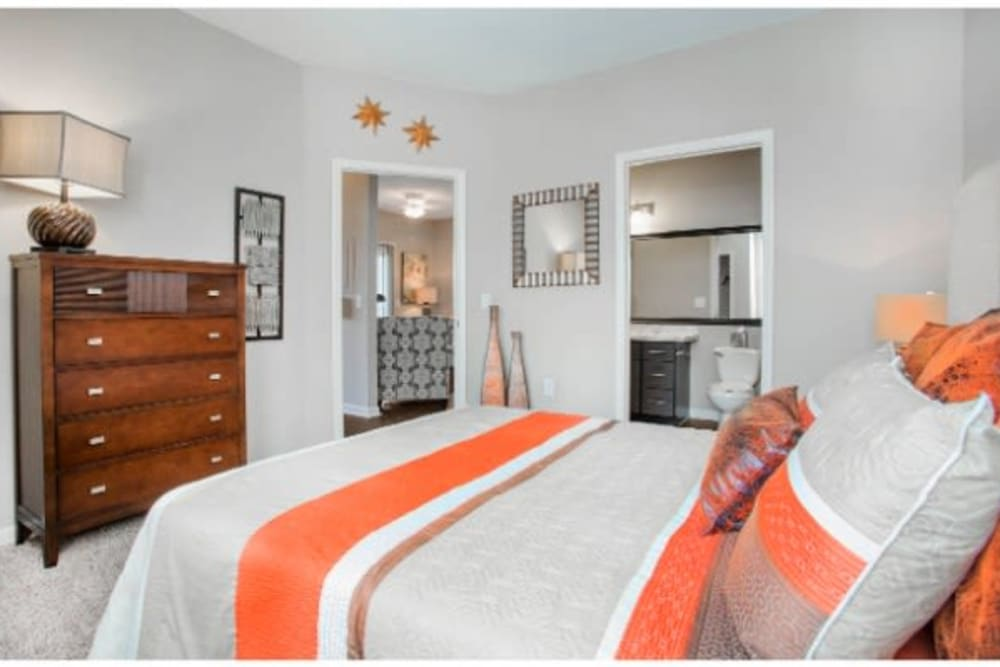 Bedroom Interior at The Seasons at Umstead in Raleigh, NC.