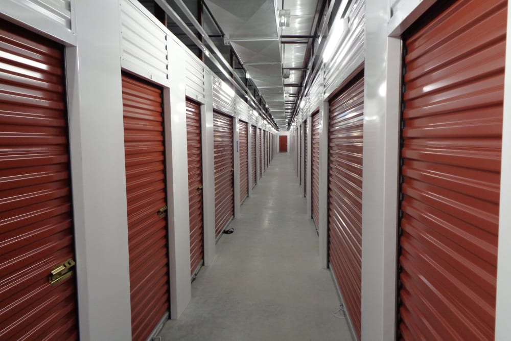 Interior locker units at Storage Authority Mulberry Florida in Mulberry, Florida