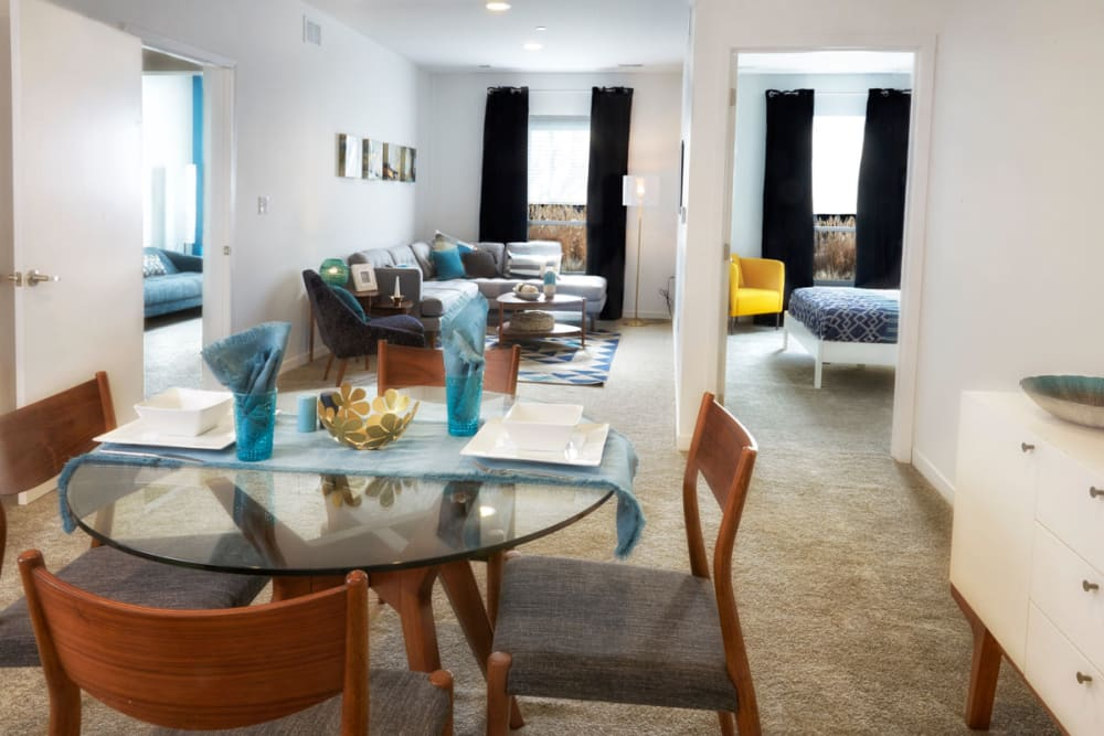 Dining and living space at The Tremont in Madison Heights, Michigan
