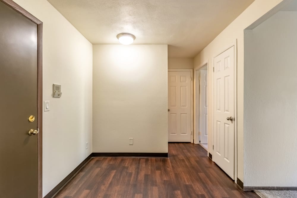 Hallway at Oldebrook Apartments in Wyoming, Michigan