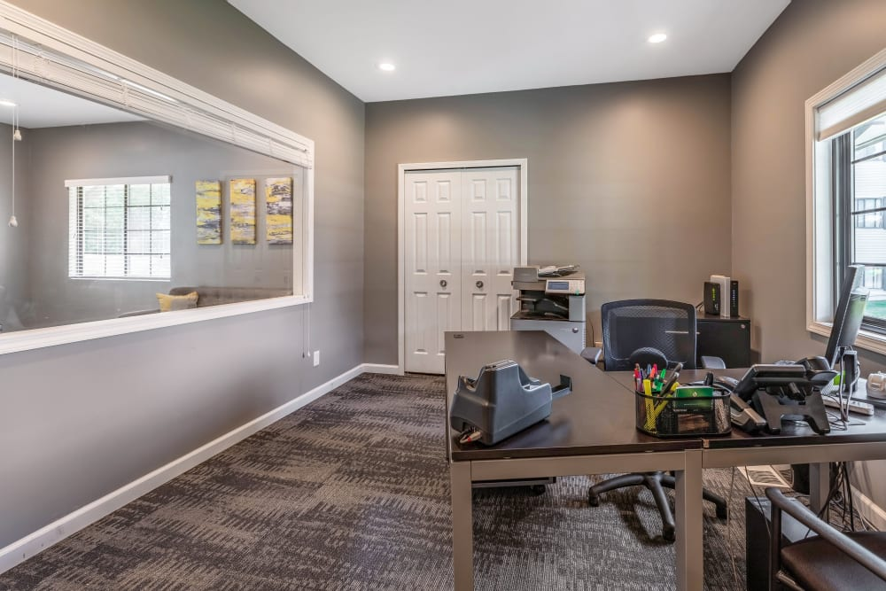 Interior of Okemos Station Apartments's leasing office in Okemos, Michigan
