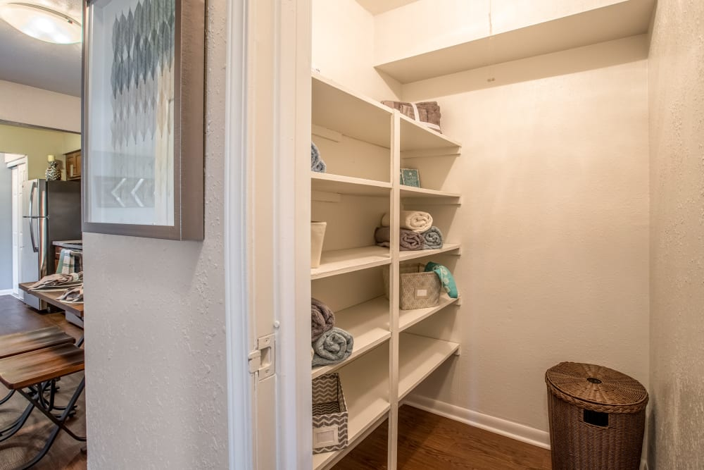Walk-in closets at Okemos Station Apartments in Okemos, Michigan