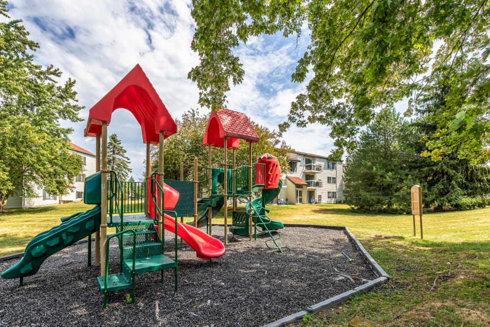 Onsite play structure at Okemos Station Apartments in Okemos, Michigan