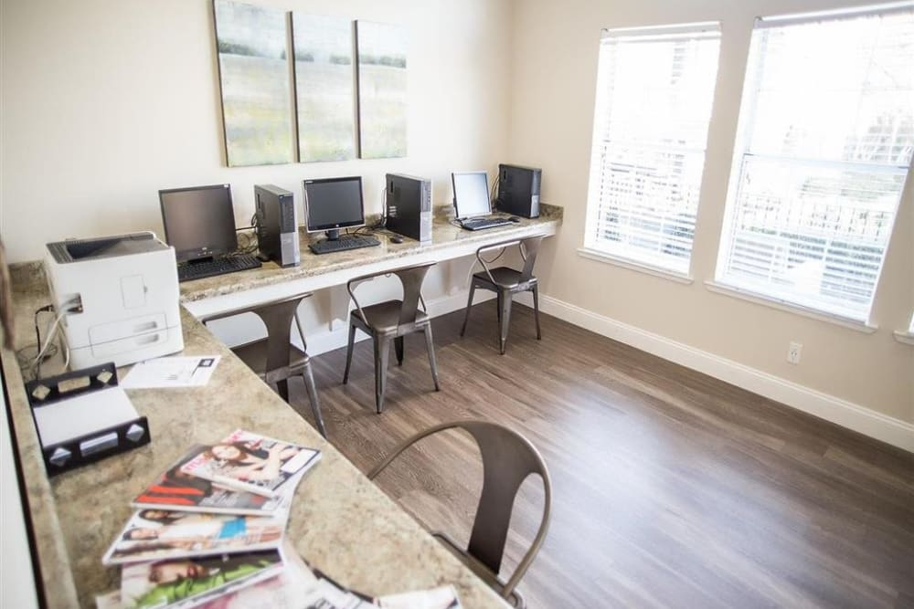 Resident business center at Shaliko in Rocklin, California.