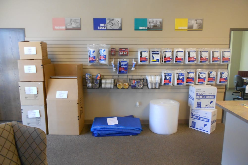 Packing supplies at Aarons Self Storage 3 in Waco, Texas