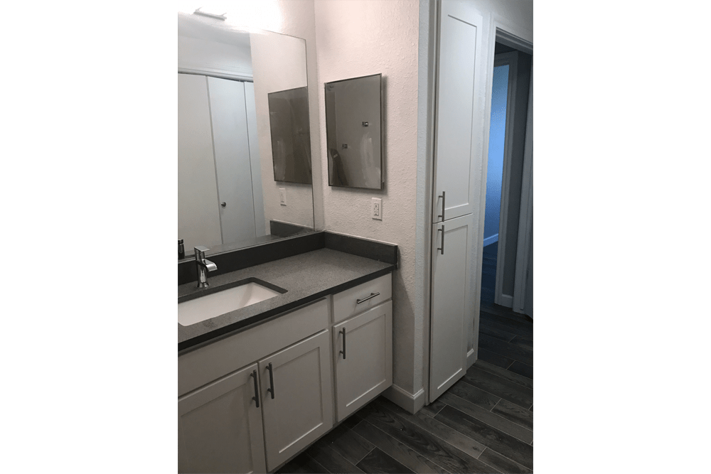 Bathroom at Alpine Meadows Apartments in Sandy, Utah