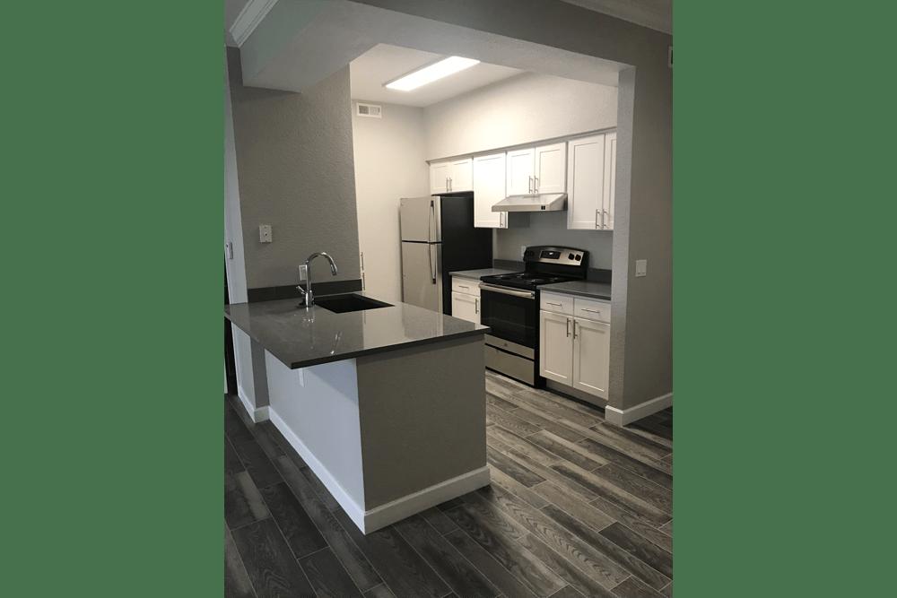 Kitchen at at Alpine Meadows Apartments in Sandy, Utah