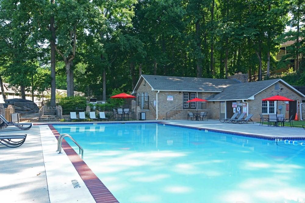 Swimming pool at The Crossing at Henderson Mill in Atlanta, Georgia