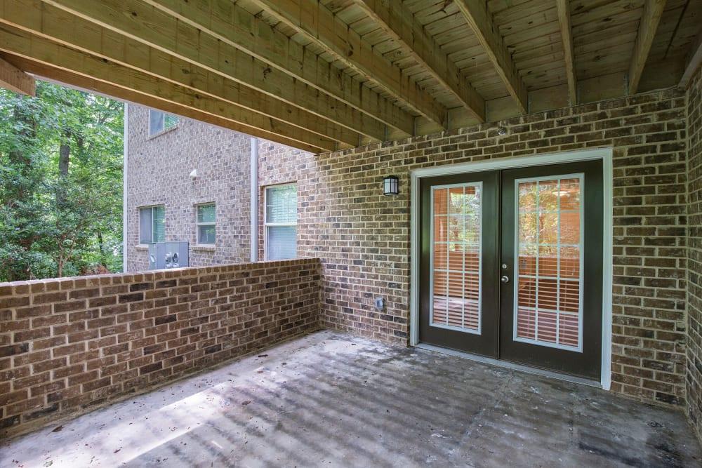 Private brick balcony at The Crossing at Henderson Mill in Atlanta, Georgia