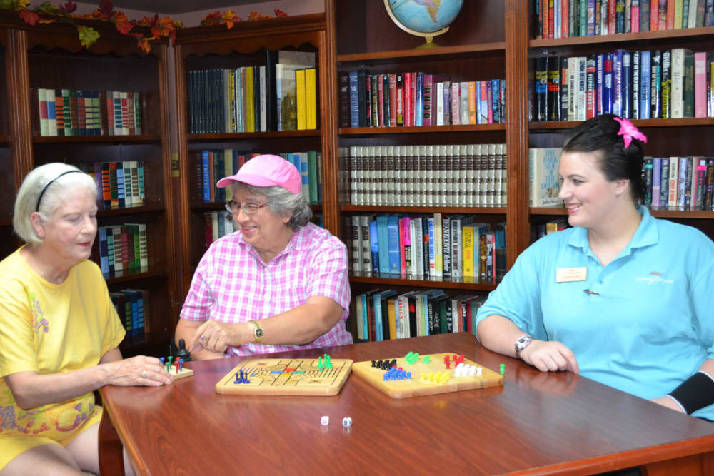 Seniors playing games at Copper Heights in Mesa, Arizona