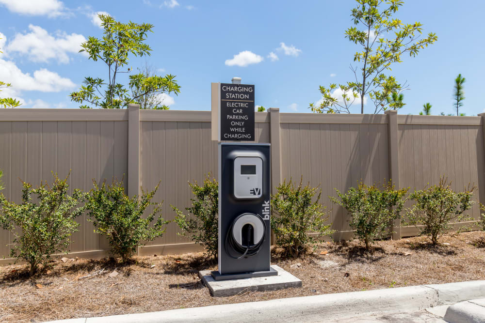 Car charging station at The Loree in Jacksonville, Florida