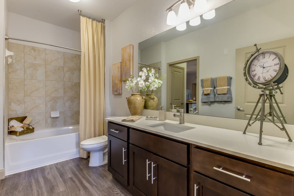 Guest bathroom at The Loree in Jacksonville, Florida
