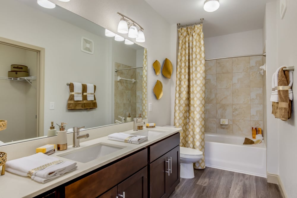 Bathroom with shower at The Loree in Jacksonville, Florida