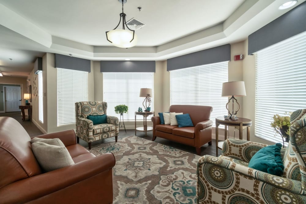 Sitting area at Summer Breeze Senior Living