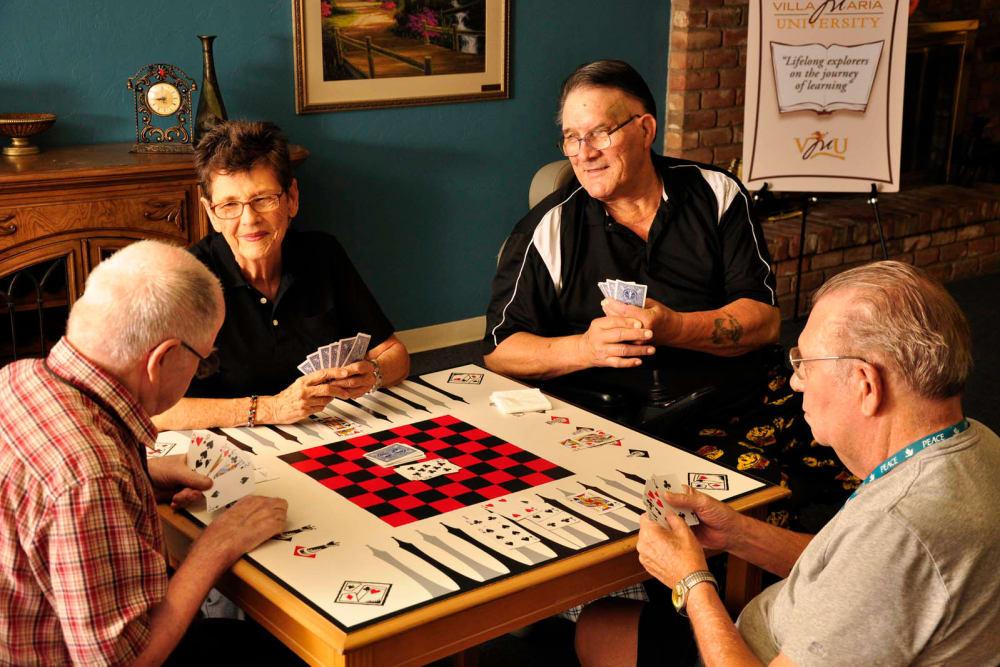 Seniors playing games at Villa Maria Care Center in Tucson, Arizona