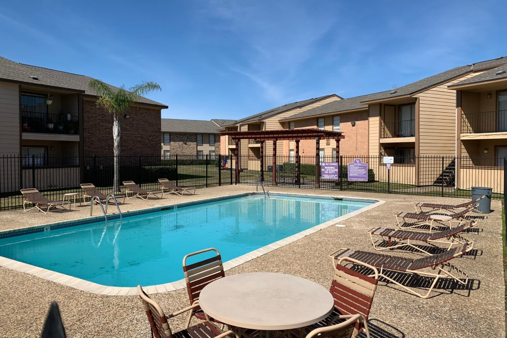Resident pool at Carriage House Apartments in Nederland, Texas