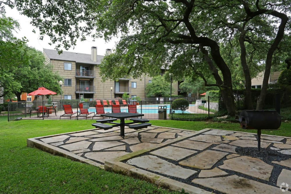 Beautiful outside area at Bridge at Northwest Hills in Austin, Texas