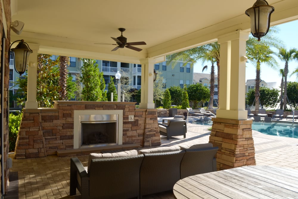 Fireplace at Terraces at Town Center in Jacksonville, Florida