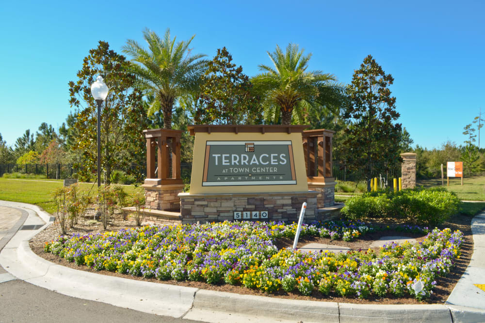 Main entrance at Terraces at Town Center in Jacksonville, Florida