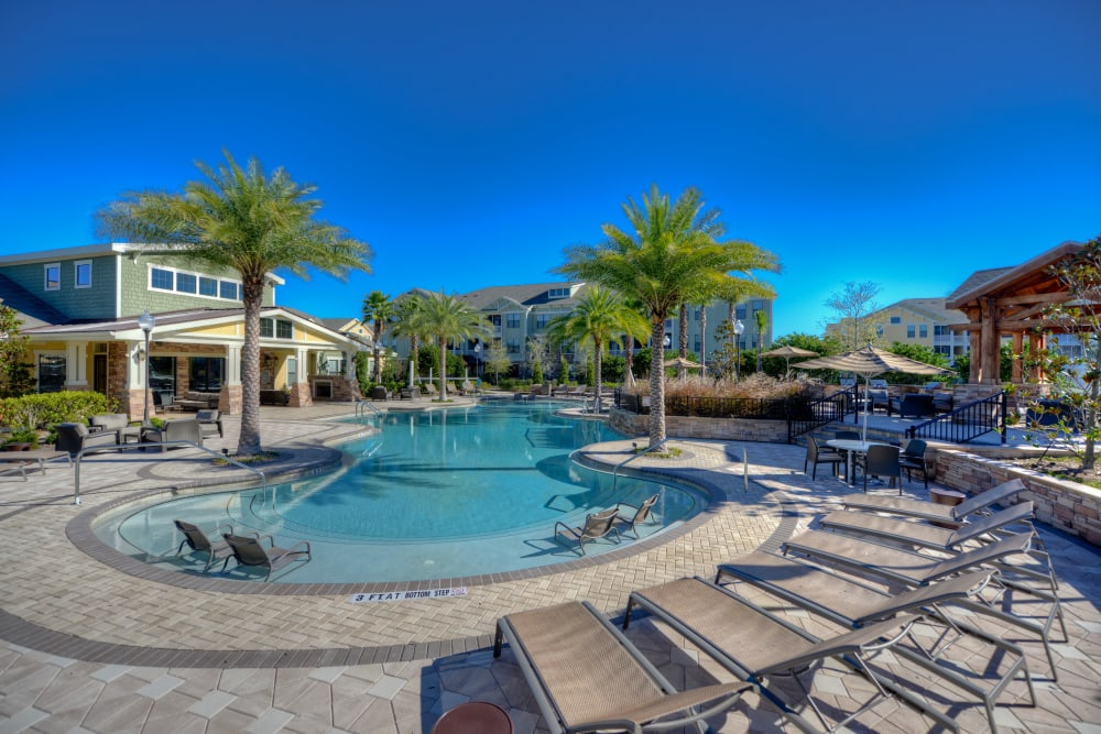 Lounge by the pool at Terraces at Town Center in Jacksonville, Florida