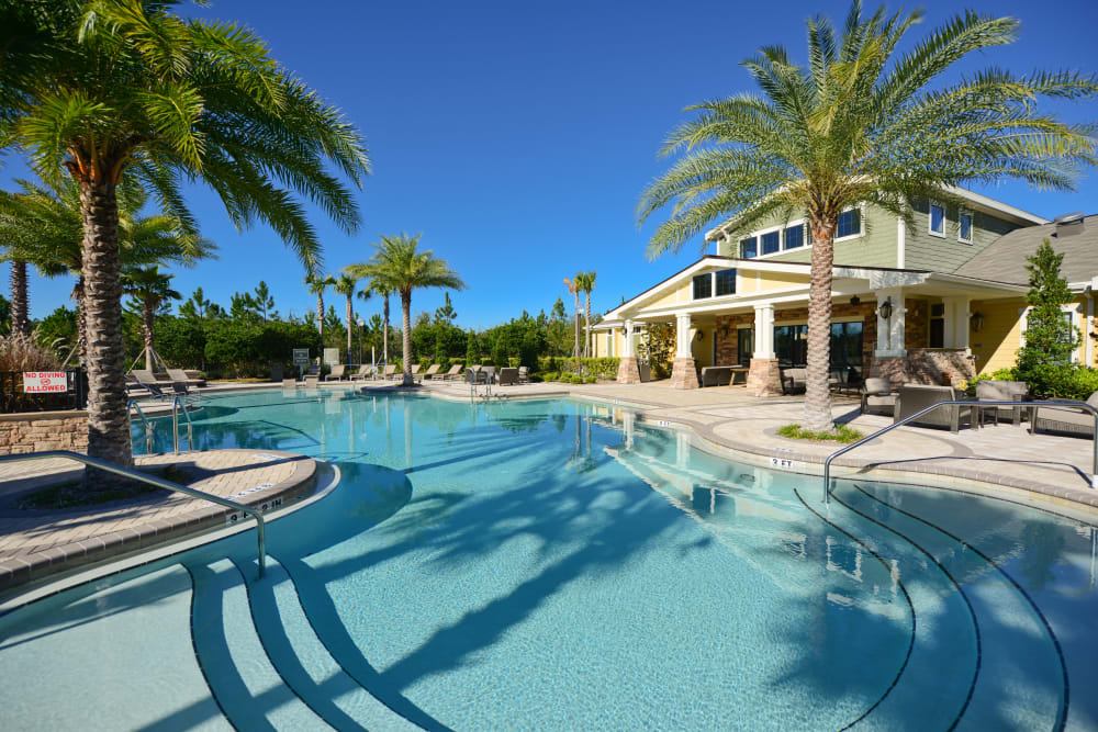 Pool area at Terraces at Town Center in Jacksonville, Florida