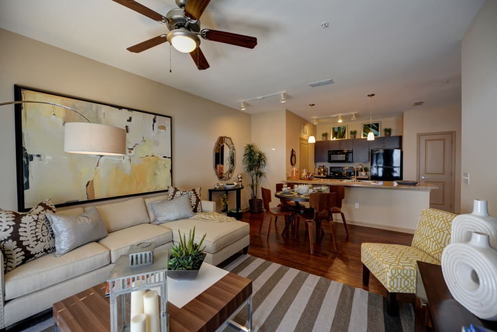 Bright living room at Terraces at Town Center in Jacksonville, Florida