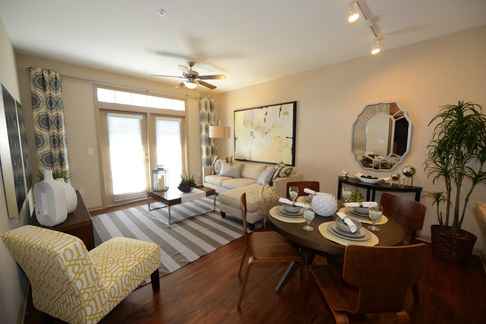 Living room at Terraces at Town Center in Jacksonville, Florida