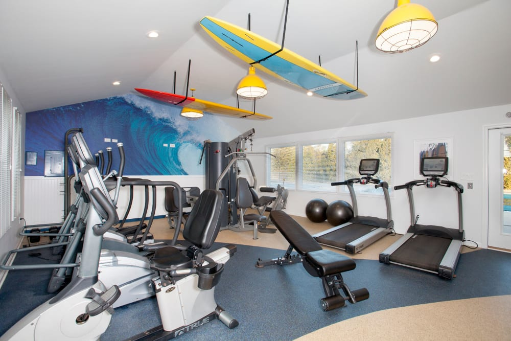 Fitness center at Quail Ridge Apartments in Plainsboro, NJ