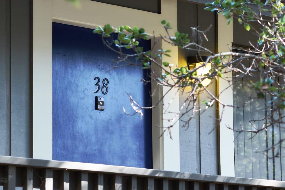 Exterior of apartment building at Villa Ramona in Monterey, California