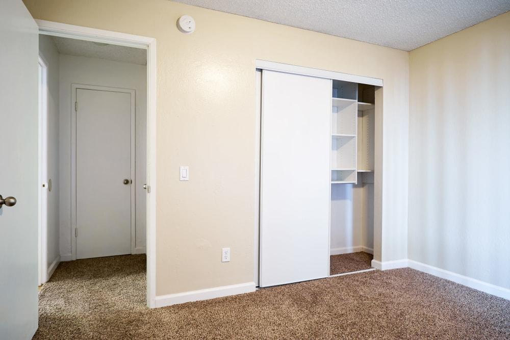 Bedroom with a spacious closet at Villa Ramona in Monterey, California