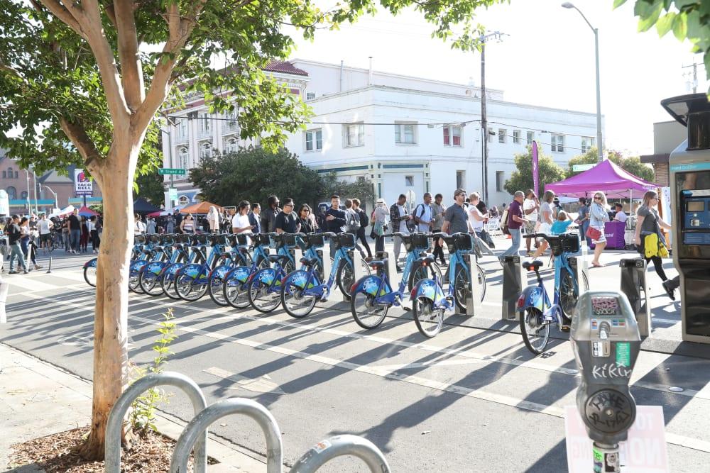 Bikes for rent near Telegraph Arts in Oakland, California