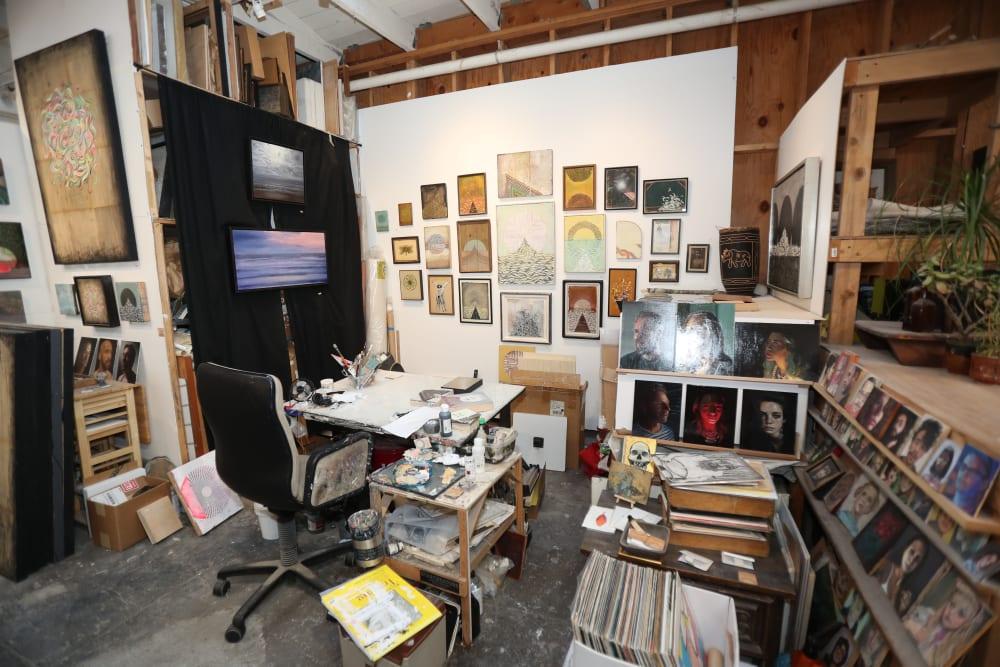 Art studio near Telegraph Arts in Oakland, California