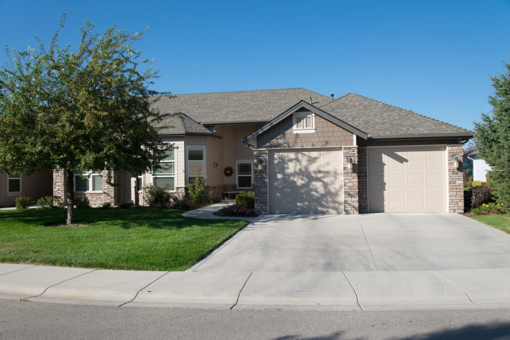 An independent living cottage at Touchmark at Meadow Lake Village in Meridian, Idaho