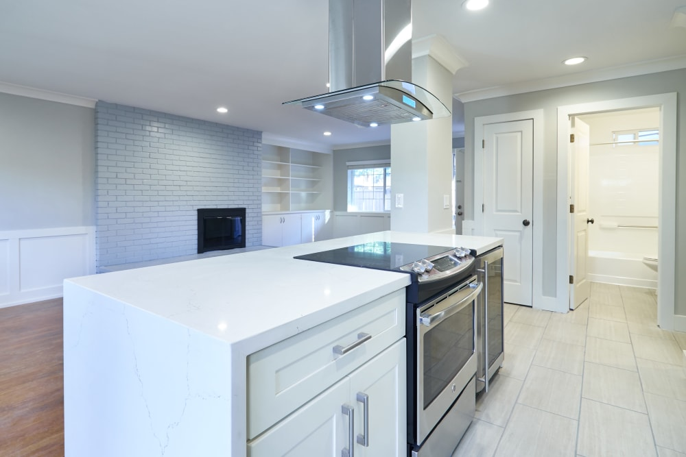 Modern kitchen with plenty of counter space at Allure in Alamo, California