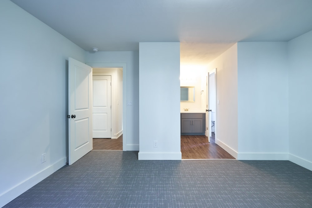Large master bedroom with a walk-in closet at Allure in Alamo, California